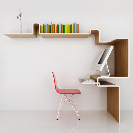 Modern Space-Saving Work Station from MisoSoupDesign