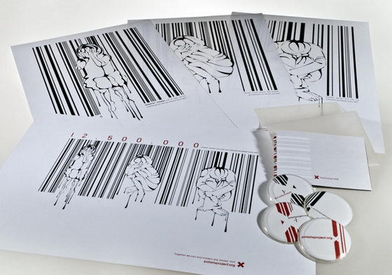 Bar Code Art: Human Trafficking Illustration