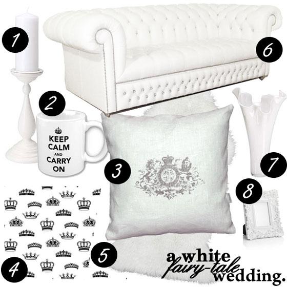 A White Fairy Tale Wedding