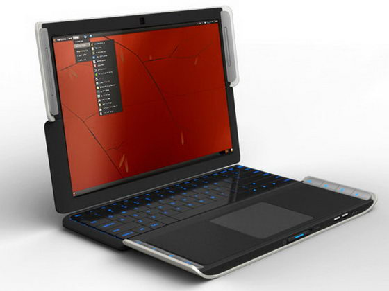 Lifebook X2: Interesting Conceptual Netbook Folding in Quarters