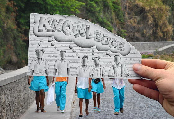 New Pencil vs Camera Artwork by Ben Heine