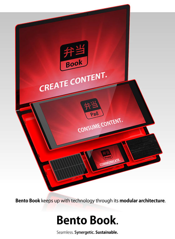 Bento Book: A Modular Laptop Computer by René Woo-Ram Lee for Fujitsu