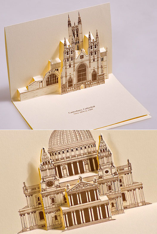 Creative 3D Popup postcards Featuring Famous Monuments in Italy