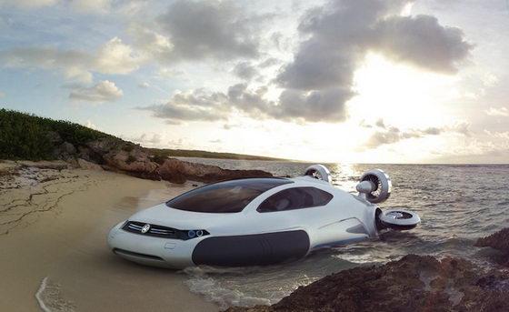 Futuristic Hovercraft Concept: Volkswagen Aqua