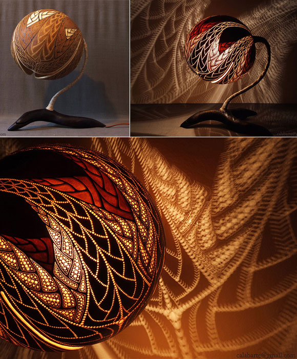 Stunning Lamps made of Gourd by Przemek