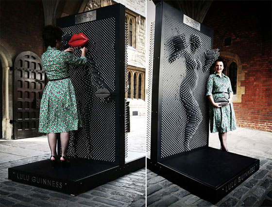 Be a Pin Up: Interactive Pin up Installation by Lulu Guinness