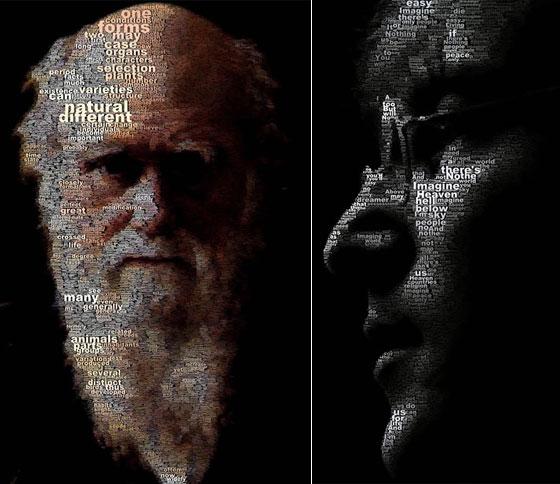 Incredible Text Portraits by Juan Osborne