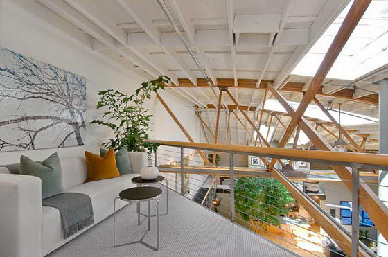 Amazing Loft with a Basketball Court in Living Room