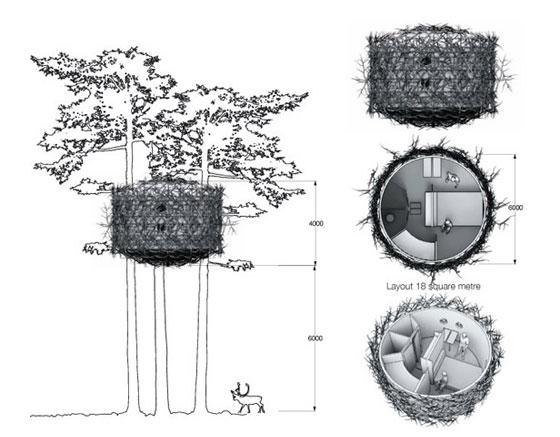Bird's Nest: Small and Cute Tree Hotel