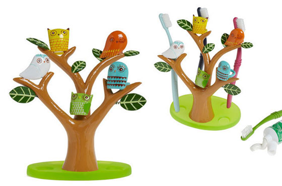 Funny Tree Shaped Kids Toothbrush Holder
