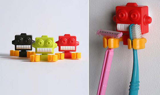 Robot Clips   Toothbrush Holder
