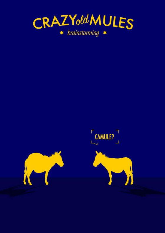 Hilarious Illustration: Crazy Old Mules by Estudio Minga