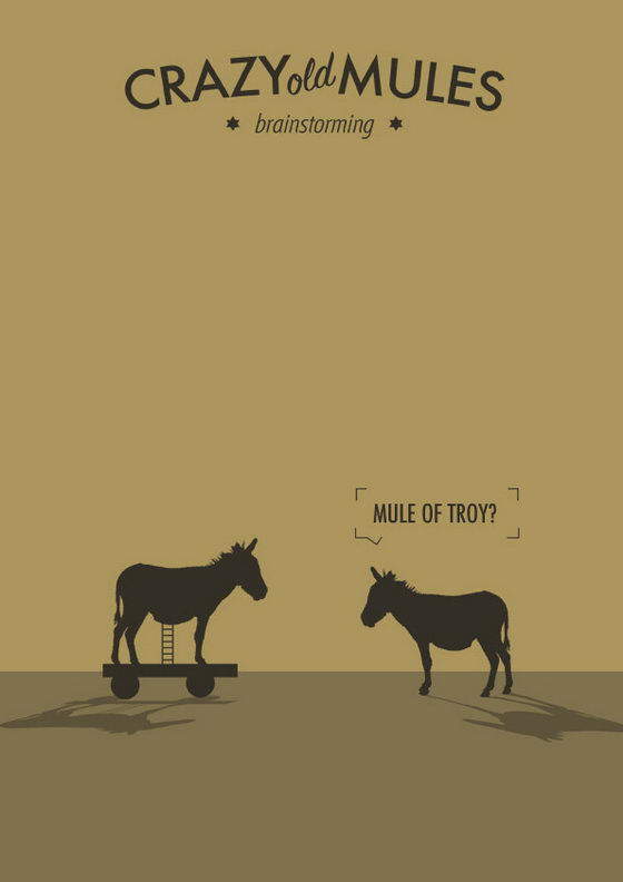Hilarious Illustration: Crazy Old Mules by Estudio Minga