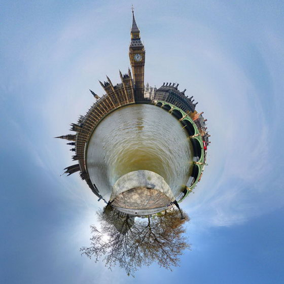 Amazing 360-degree Stereographic Projections by David Jackson