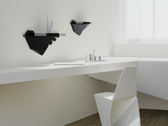 Creative and Unusual Shelves System by Marisko Studio