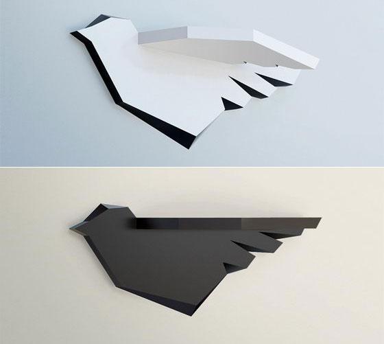 Creative and Unusual Shelves System by Marisko Studio