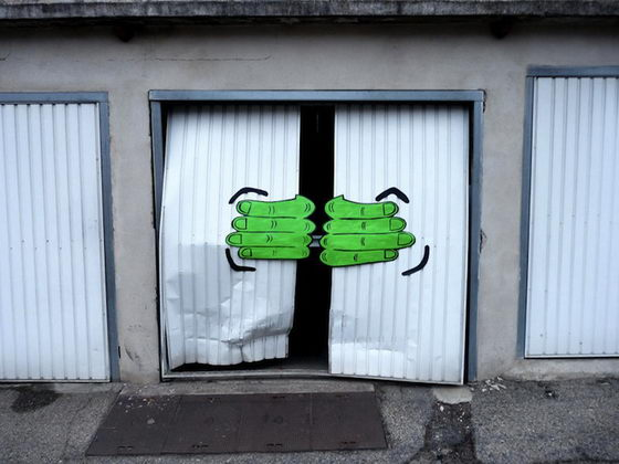 Funny Street Art from Oakoak, Playful and Cute