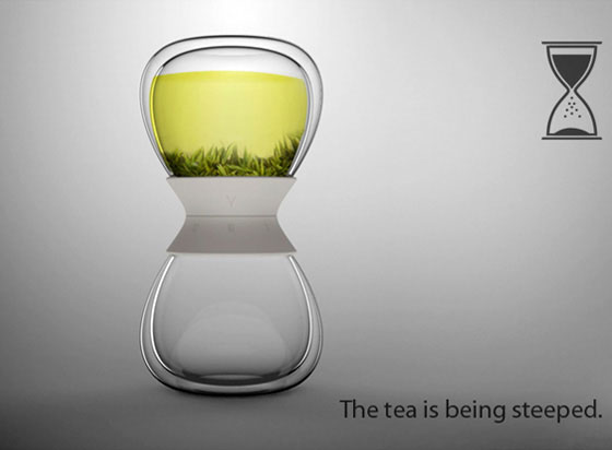 Tea-time: Hourglass Tea Maker by Pengtao Yu
