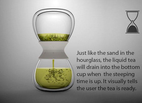 Tea-time: Hourglass Tea Maker by Pengtao Yu