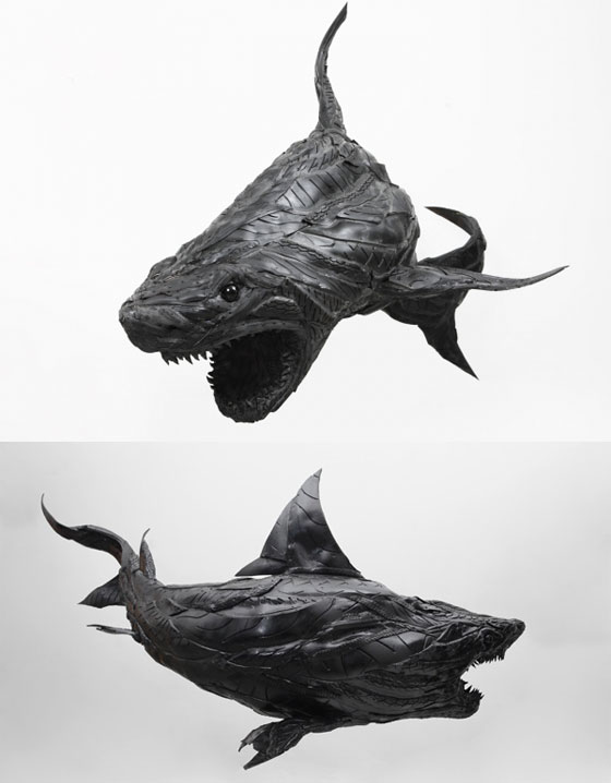 Stunning Animal Sculptures Made of Recycled Tire