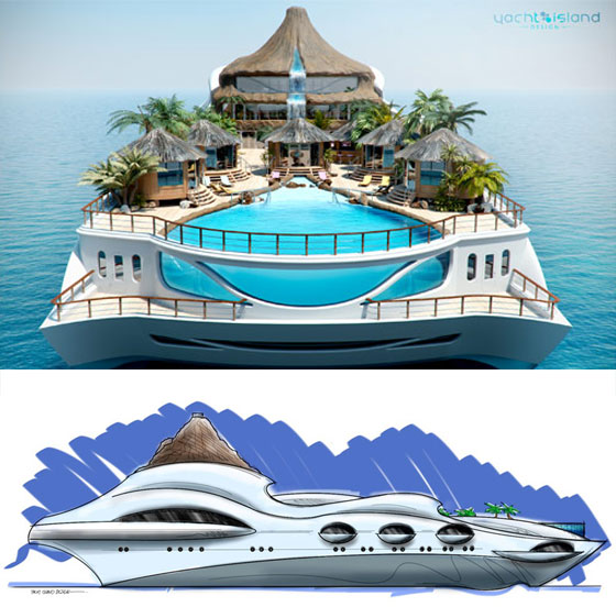 Tropical Island Paradise: An Incredible Yacht Concept