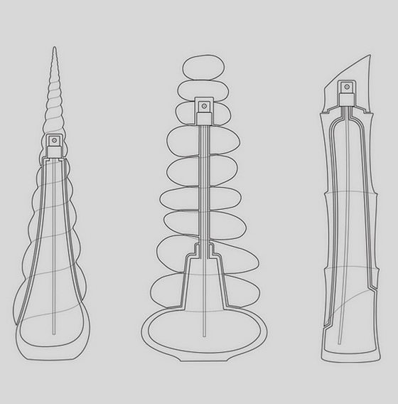 Nature Inspired Zen Perfume Packaging Design by Igor Mitin
