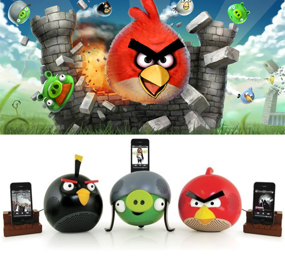 Adorable Angry Birds Speaker Docks