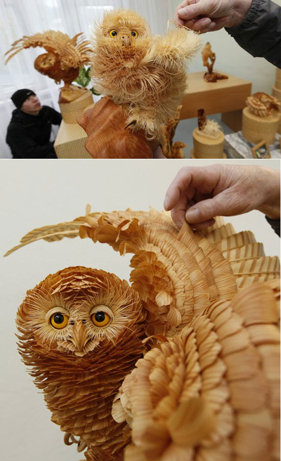 Incredible Wooden Chip Artwork by Sergey Bobkov
