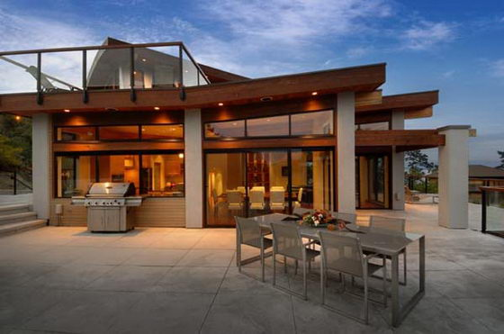 Contemporary wooden and glass house designs by keith baker for High end home plans