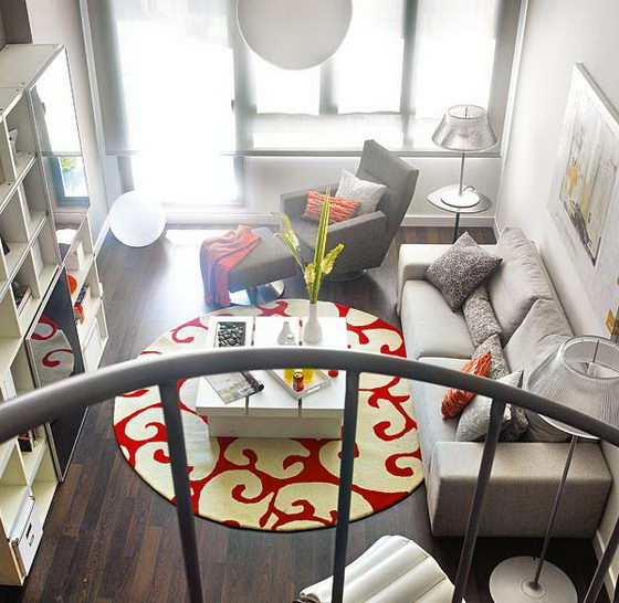 Vivid Colored Small Loft Design