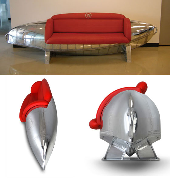Cool Furniture Made from Vintage Airplane Parts