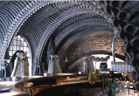Stunning HR Giger Bar: the Alien Skeleton Bar in Switzerland