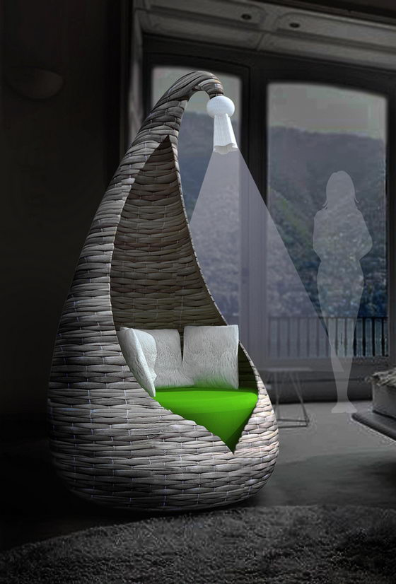 Cocoon Armchair: A Perfect Place for Solitude in Public