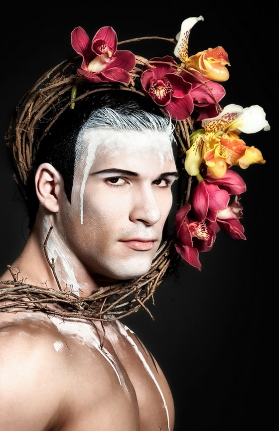 Father Nature: Unusual Combination of Masculine Bodies and Delicate Flowers
