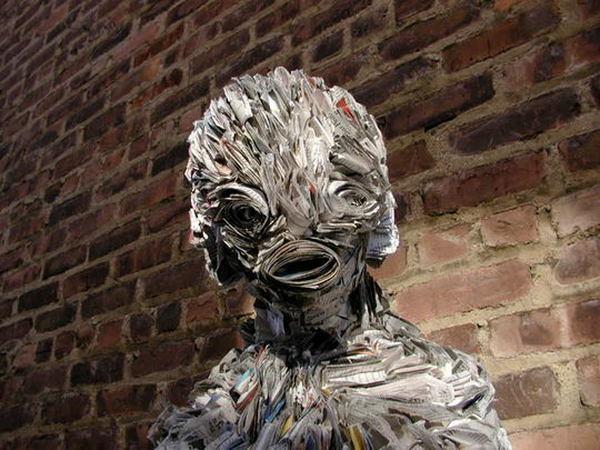 Stunning Newspaper Sculptures by Nick Georgiou