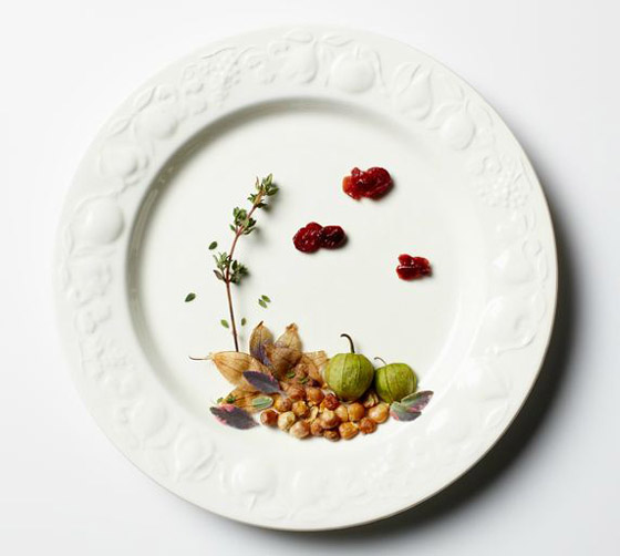 Beautiful Seasonal Landscape on Plate by Andrea Bricco