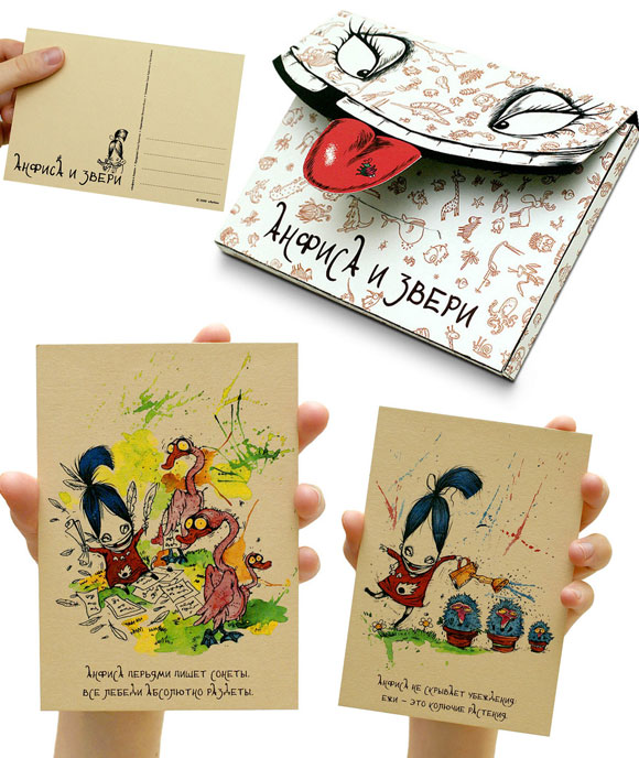 15 beautiful and creative postcard designsdesign swan - Postcard Design Ideas