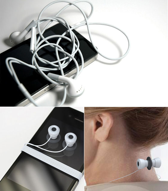 Ear Tentacles: a Simple solution to Solve Tangled Earphone Cords