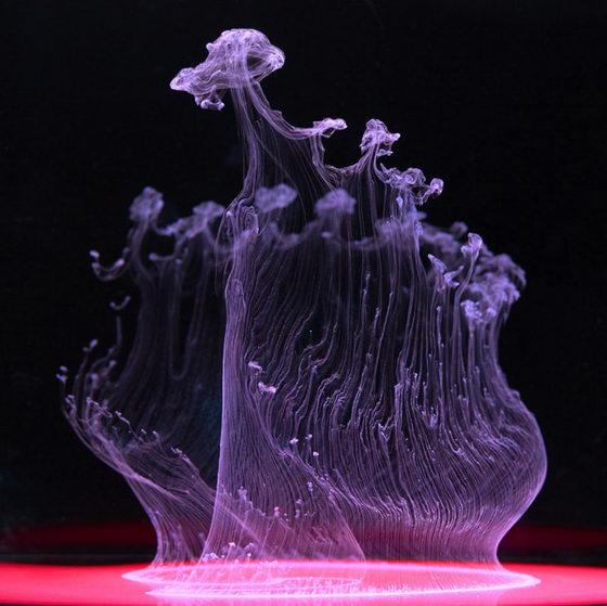 Aqueous Fluoreau: Stunning Underwater Ink photographs by Mark Mawson