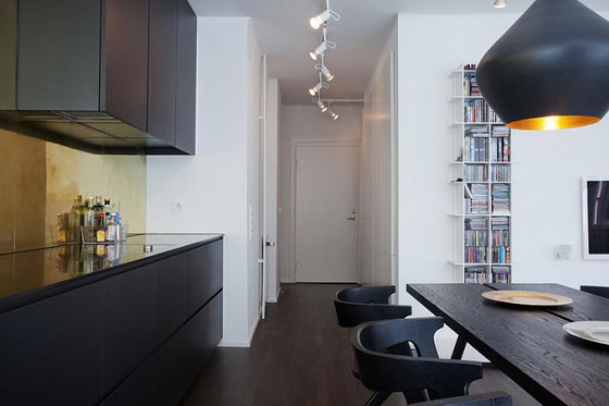 Beautiful Loft-Like Studio with Unusual Layout by Daniel Nyström