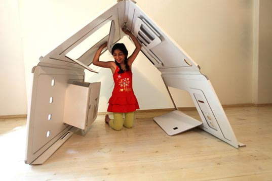 My Space: Pop-Up Cardboard Playhouse by Liya Mairson