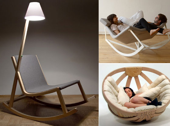 12 cool and unique rocking chair designs design swan. Black Bedroom Furniture Sets. Home Design Ideas