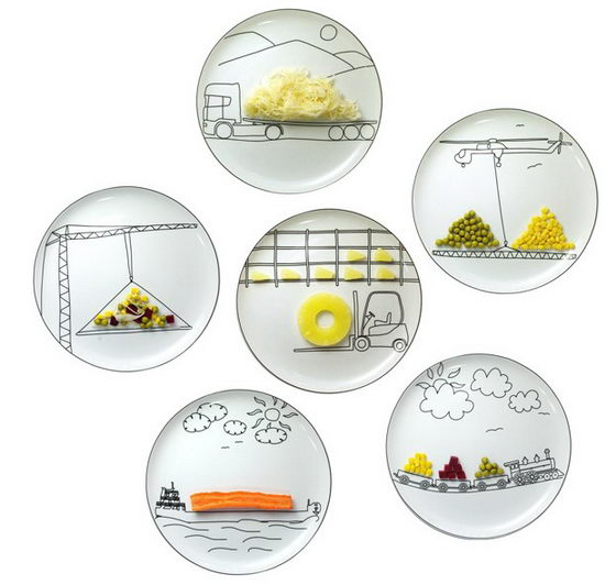 Playful Transportation Plates by Boguslaw Sliwinski