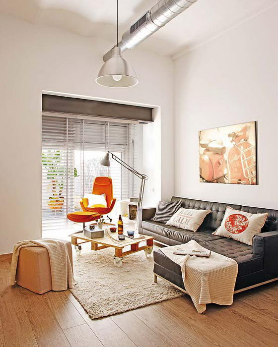Small Apartment Design: Smart Urban Loft Design For Small Apartment