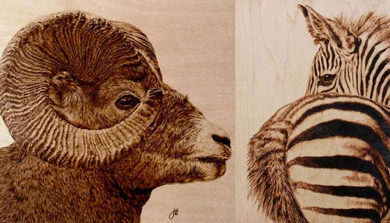 Stunning Animal Pyrography by Julie Bender
