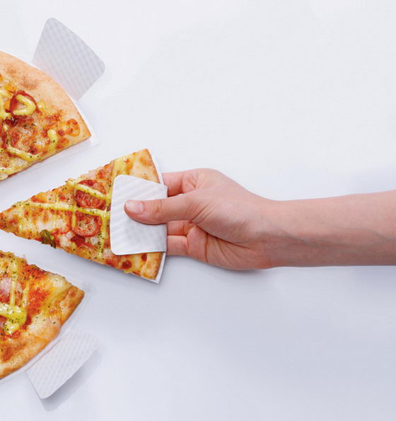 Pizza Finger: Neat Paper Dish Design for Takeaway Pizza