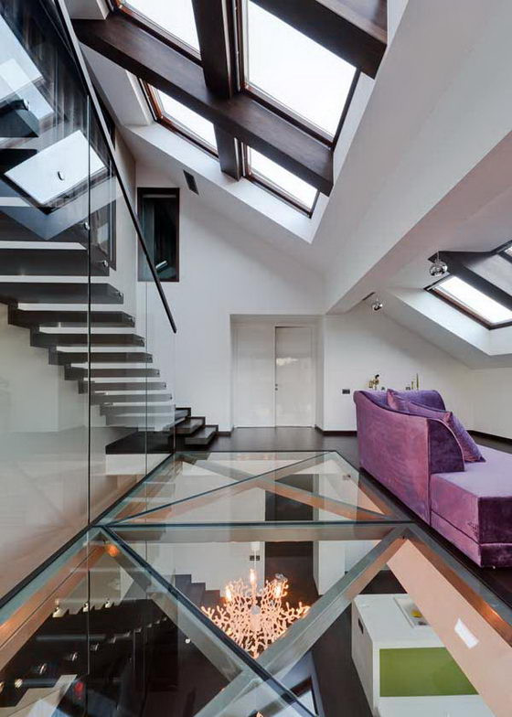Cetatuia Loft: Modern Transparent Loft by Ion Popusoi and Bogdan Preda