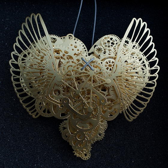 Incredible Detailed Paper Heart Sculptures