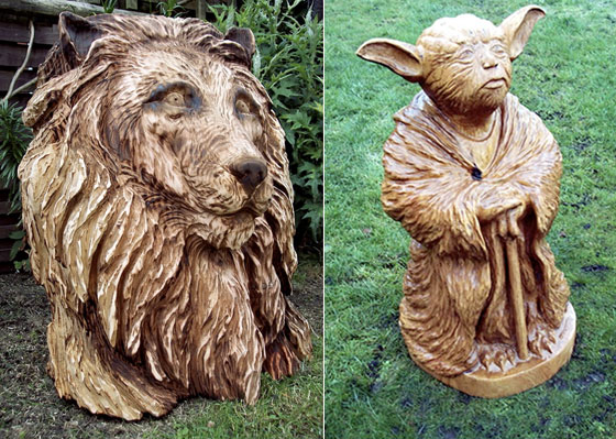 Amazing Wood Sculptures Created by Chainsaw