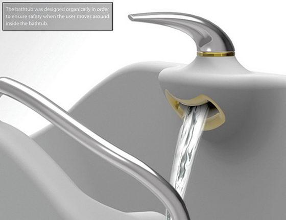 Flume Bathtub: Innovative Seesaw Tub Concept